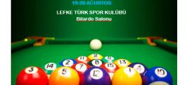 2017 LEFKE ŞENLİKLERİ 2. BİLARDO TURNUVASI